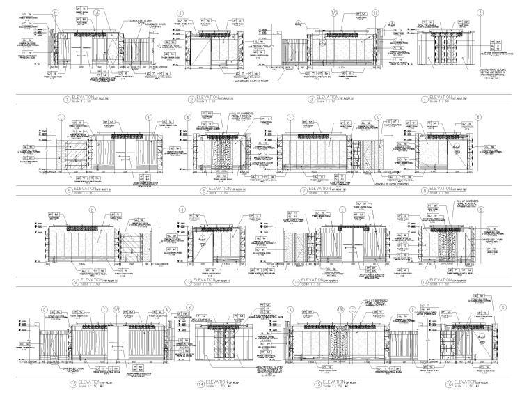 HBA制图规范+CAD图块+节点标准+构造做法-立面标准图例