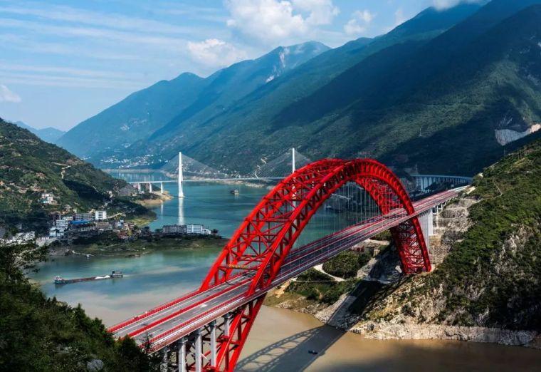 世界最大跨度钢箱桁架推力拱桥,晒主桥设计_1