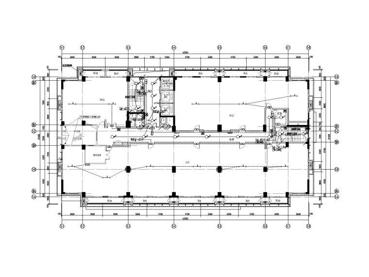 中铁_十六层办公楼电气施工图(2020.6)-1照明平面图