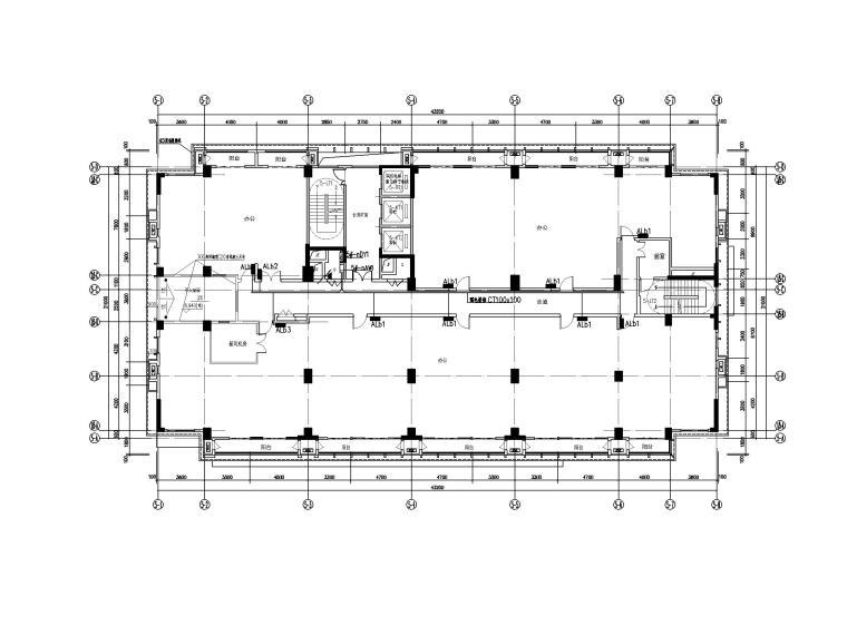 中铁_十六层办公楼电气施工图(2020.6)-2电气干线平面图