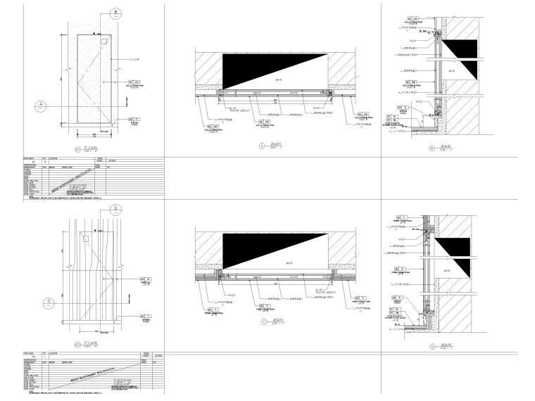 HBA制图规范+CAD图块+节点标准+构造做法-门表标准图例