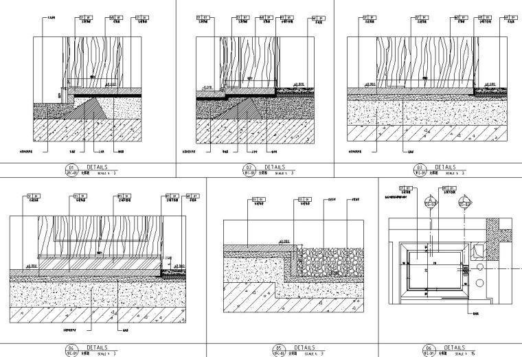 帝凯室内设计-重庆金辉城样板房方案施工图-地面大样图