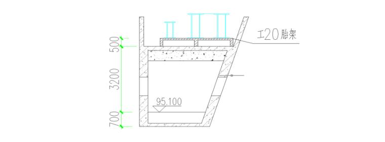 高层综合服务中心钢结构吊装施工专项方案-06 支撑胎架截面图