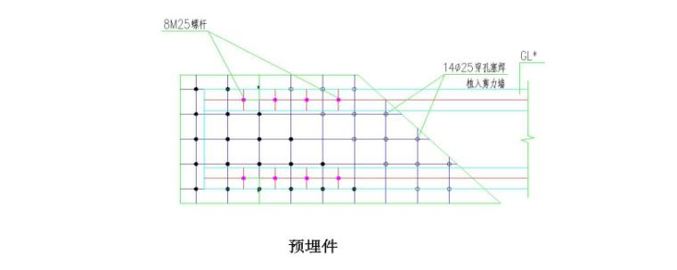 高层综合服务中心钢结构吊装施工专项方案-05 预埋件示意图