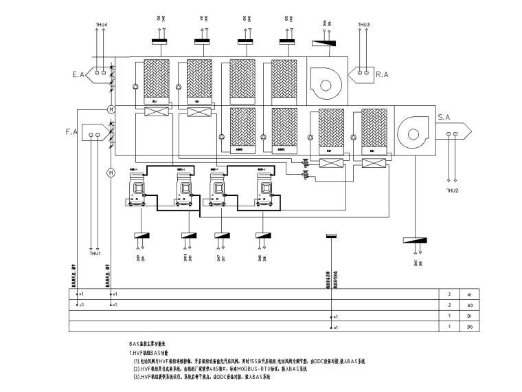 中铁_十六层办公楼电气施工图(2020.6)-10HVF机组控制原理图