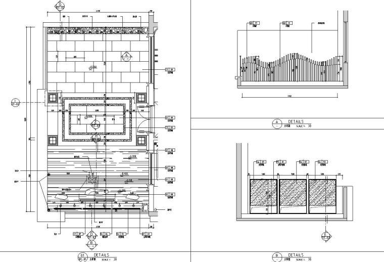 帝凯室内设计-重庆金辉城样板房方案施工图-三层露台详图