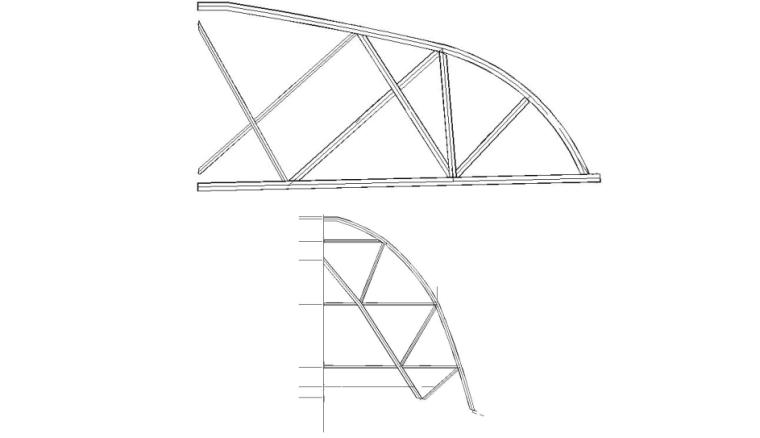高层综合服务中心钢结构吊装施工专项方案-02 方管拱架拼装焊接示意图