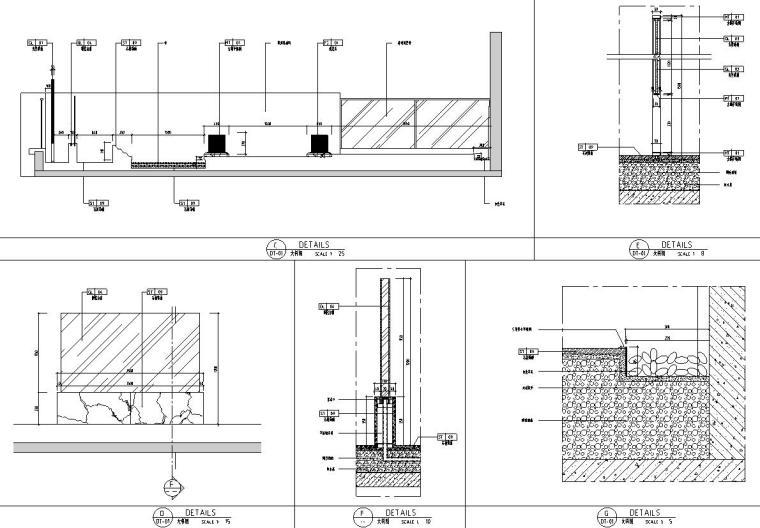 帝凯室内设计-重庆金辉城样板房方案施工图-三层露台详图1