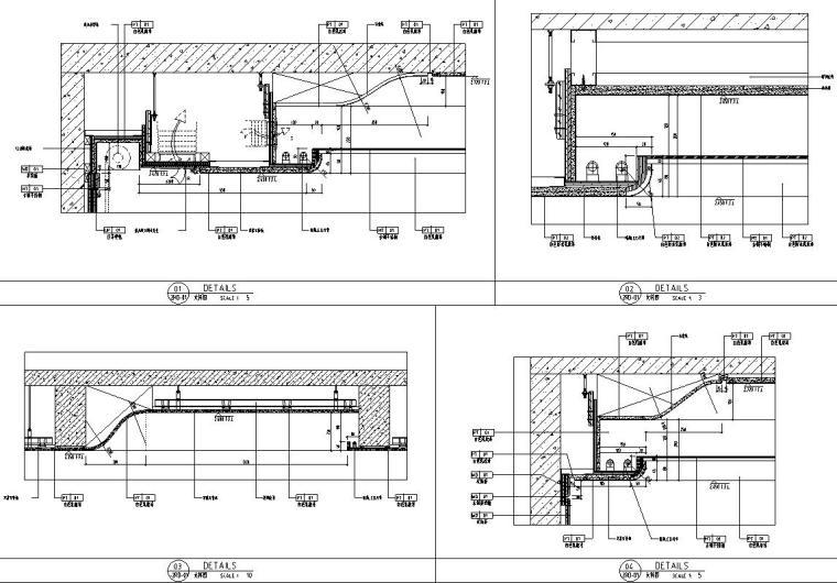 帝凯室内设计-重庆金辉城样板房方案施工图-天花大样图