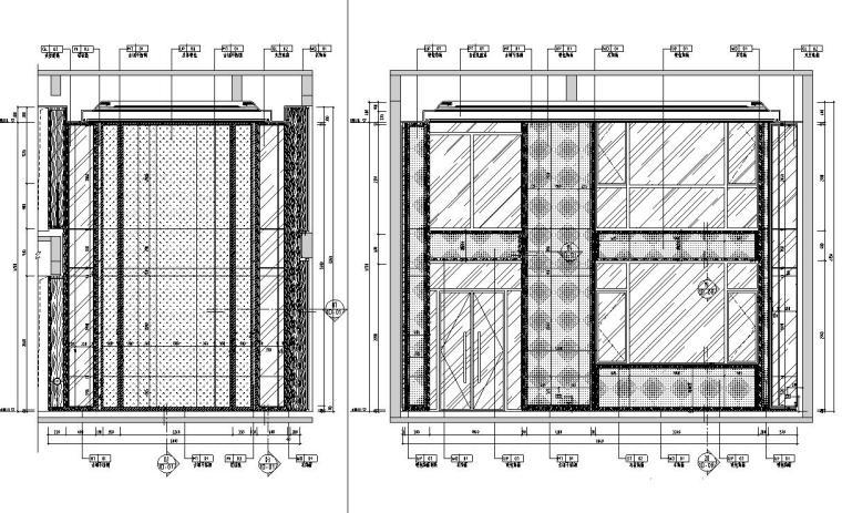 帝凯室内设计-重庆金辉城样板房方案施工图-一层立面图