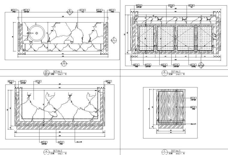 帝凯室内设计-重庆金辉城样板房方案施工图-详图设计