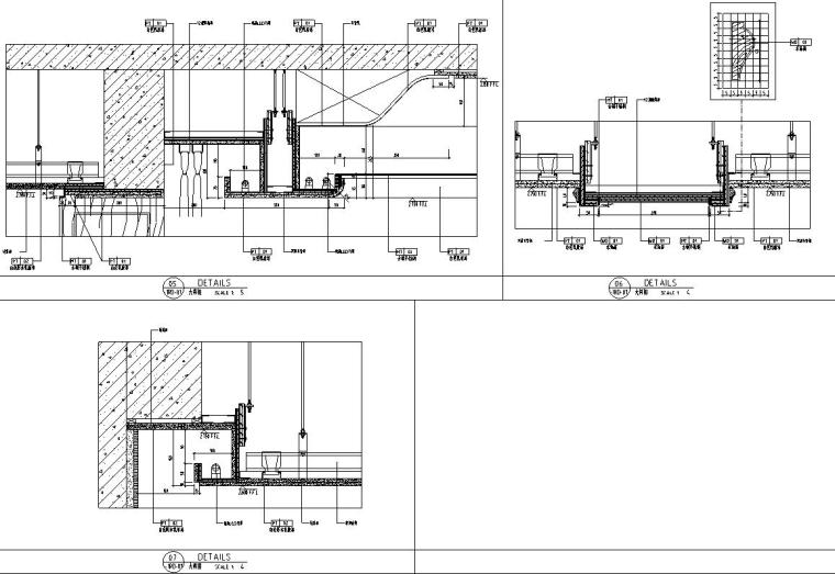 帝凯室内设计-重庆金辉城样板房方案施工图-天花大样图1