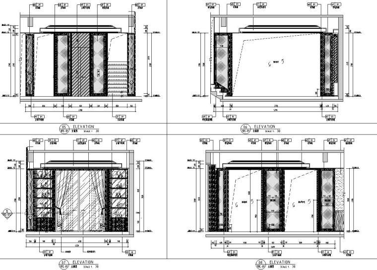 帝凯室内设计-重庆金辉城样板房方案施工图-一层立面图2
