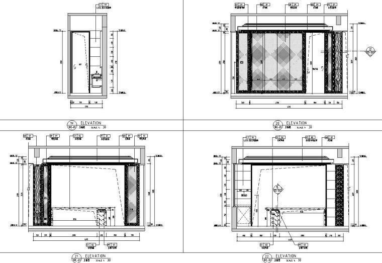 帝凯室内设计-重庆金辉城样板房方案施工图-一层立面图3