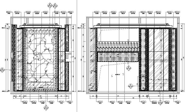帝凯室内设计-重庆金辉城样板房方案施工图-一层立面图1