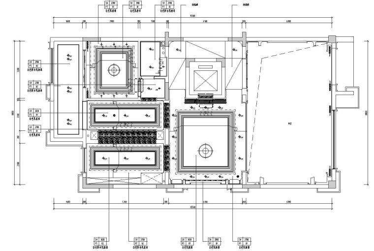 帝凯室内设计-重庆金辉城样板房方案施工图-一层天花布置图