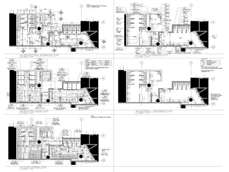 HBA制图规范+CAD图块+节点标准+构造做法-卫生间标准图例
