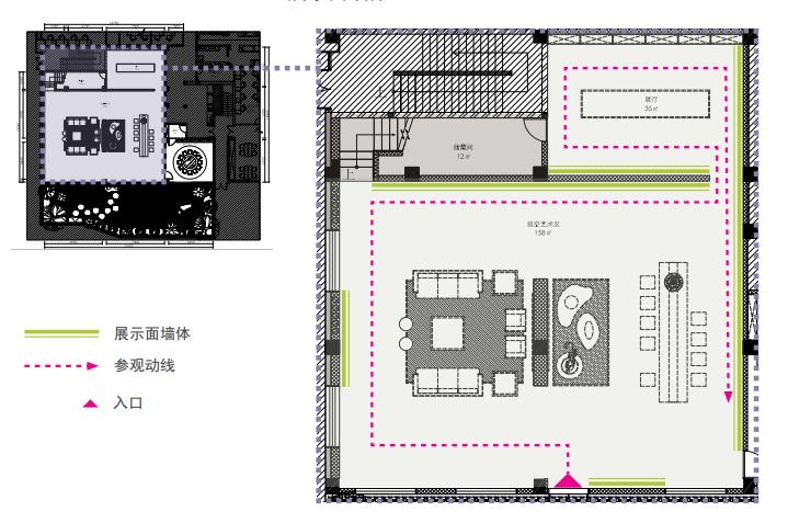 [上海]吴中路全季美学生活展示馆方案文本-一层展示面墙体