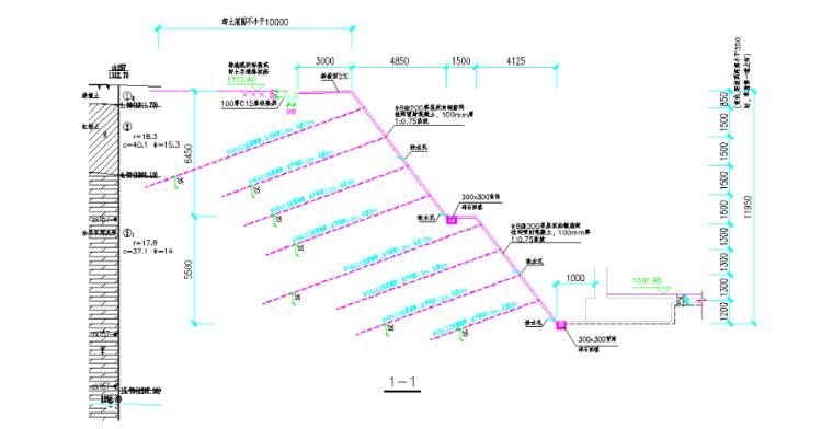 基坑支护及土方开挖安全专项施工方案-02 基坑支护典型剖面图