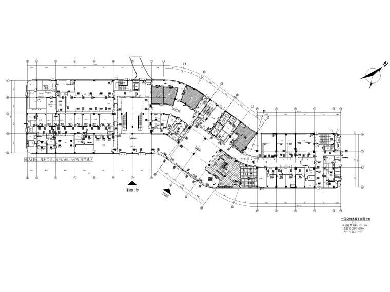 贵州妇幼保健院暖通施工图含招标文件2020-一层空调水管平面布置图