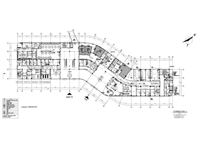 贵州妇幼保健院暖通施工图含招标文件2020-一层消防通风平面图