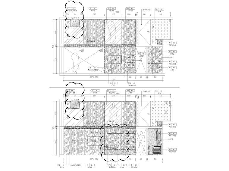 [北京]79㎡二居LOFT公寓样板间装修施工图-样板间立面图2