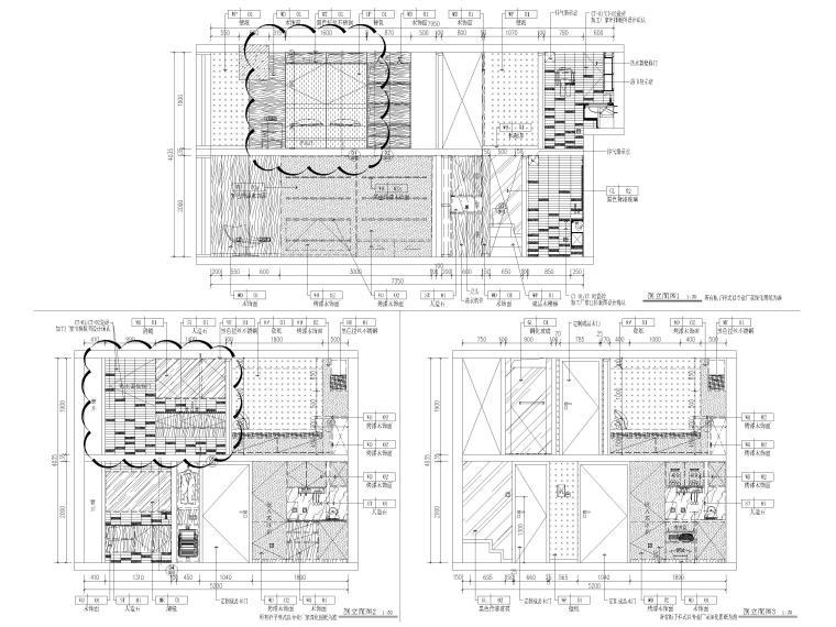 [北京]79㎡二居LOFT公寓样板间装修施工图-样板间立面图3