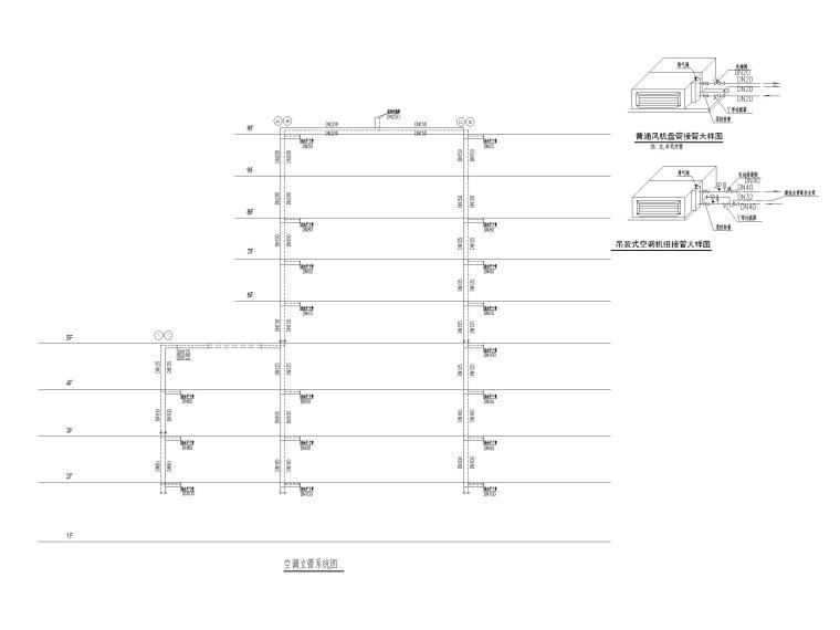 贵州妇幼保健院暖通施工图含招标文件2020-空调立管系统图