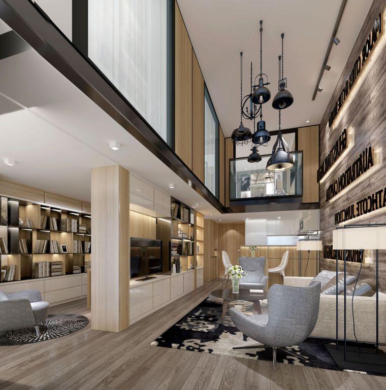 [北京]79㎡二居LOFT公寓样板间装修施工图-0005[3]