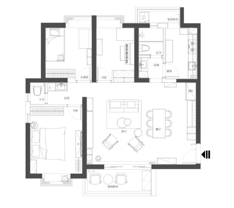 不要电视,120m²日式风格家装设计_19