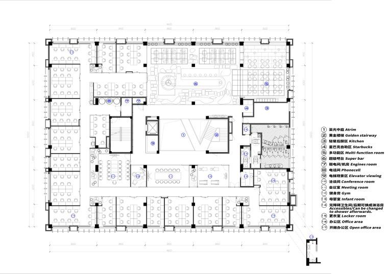 北京金茂资本上地JSPACE-北京金茂资本上地 J SPACE平面图 (1)