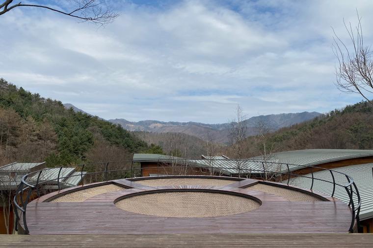 韩国大型休闲吊床装置实景图3