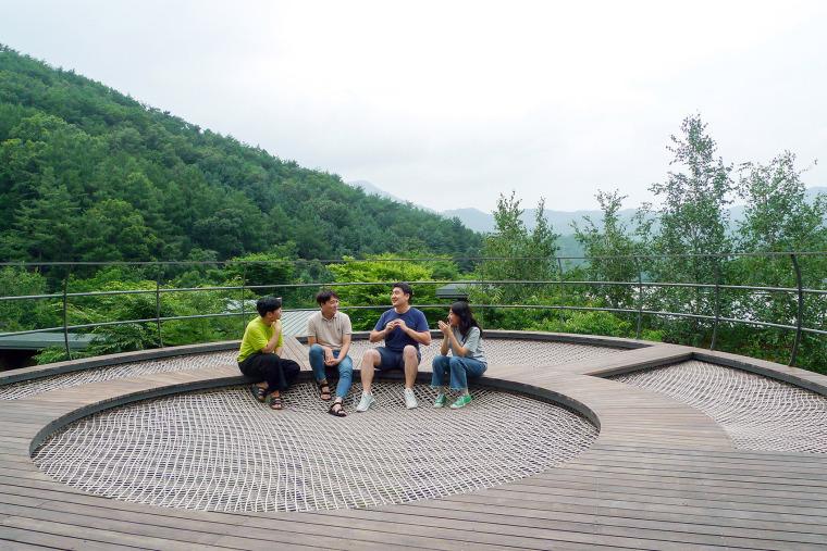 韩国大型休闲吊床装置实景图8