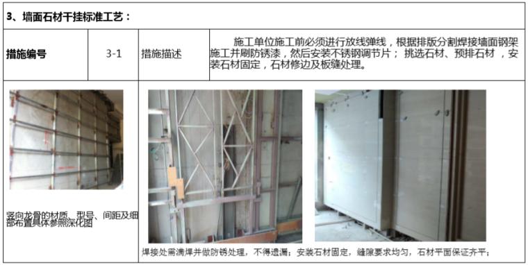 房地产公司成品房质量控制手册(118页)-墙面石材干挂标准工艺