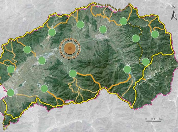[北京]平谷区环山100特色小镇概念规划文本-空间布局