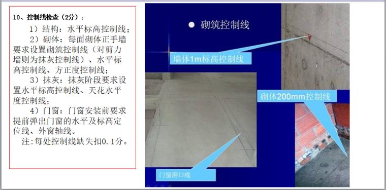 知名房企标杆工程打造手册(173页,图文)-控制线检查