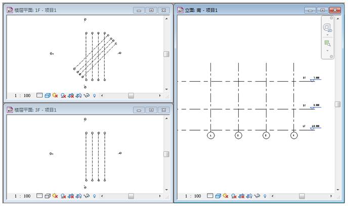 Revit软件技巧1.1.5解决添加标高看不见轴网-拖动轴网往上移动