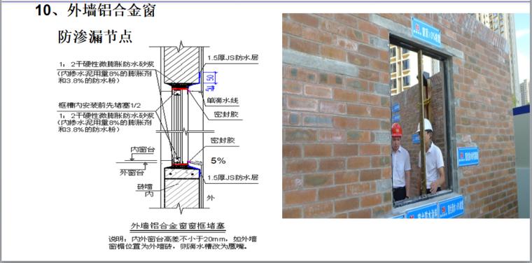 知名房企标杆工程打造手册(173页,图文)-外墙铝合金窗防渗漏节点