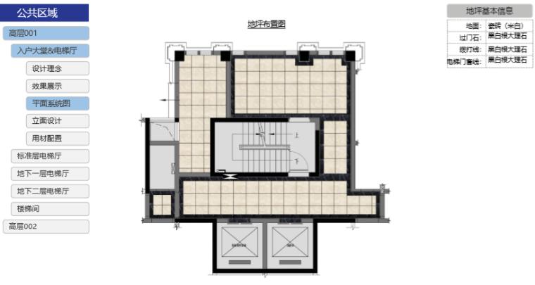 房地产公司住宅产品标准手册(室内篇)-地坪布置图