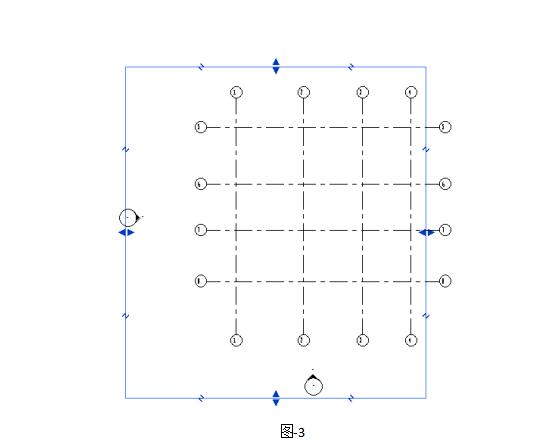 Revit软件技巧1.1.2快速设置轴网的3D2D特性-拖动裁剪区域