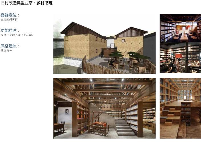 [北京]平谷区环山100特色小镇概念规划文本-旧村改造典型业态:乡村书院