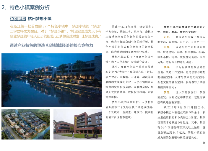[北京]平谷区环山100特色小镇概念规划文本-特色小镇案例分析
