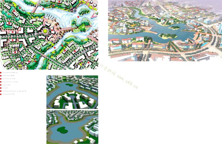 [山东]青岛小珠山城市片区景观设计方案-城市规划鸟瞰图