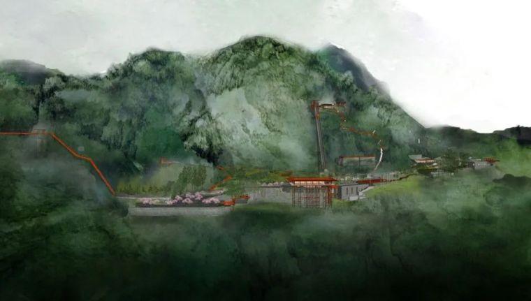 家琨建筑新作 二郎镇天宝洞区域改造项目_4