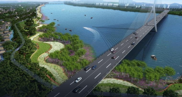 [江西]抚州历史文化街区滨河景观设计方案-海绵生态公园效果图