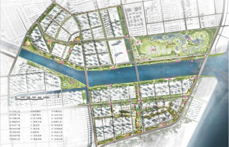 [山东]青岛海洋活力滨海广场绿地景观设计-总平面图