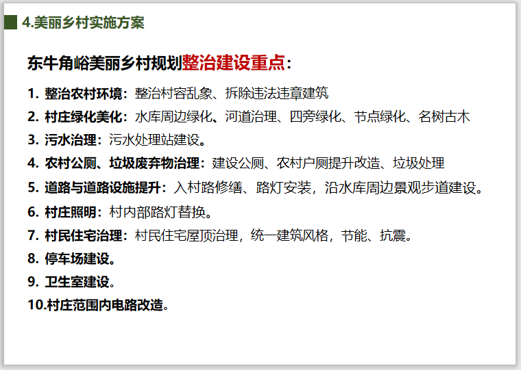 北京市东牛角峪村美丽乡村规划(2018-2035)-美丽乡村规划整治建设重点