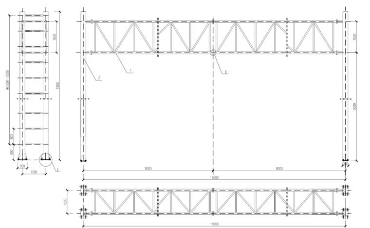 [郑州]城市快速路_交通工程施工图设计-龙门架结构设计图