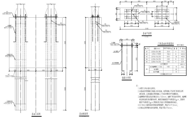[郑州]城市快速路_交通工程施工图设计-龙门架基础结构设计图