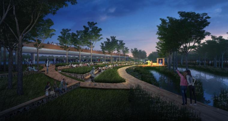 [江西]抚州历史文化街区滨河景观设计方案-户外戏曲舞台设计效果图